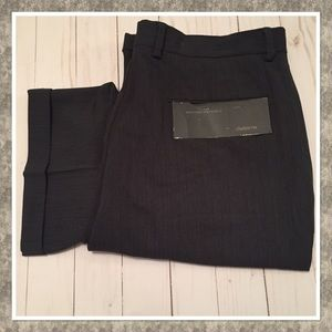 Claiborne Men's Gray Pleated Cuff Dress Pants